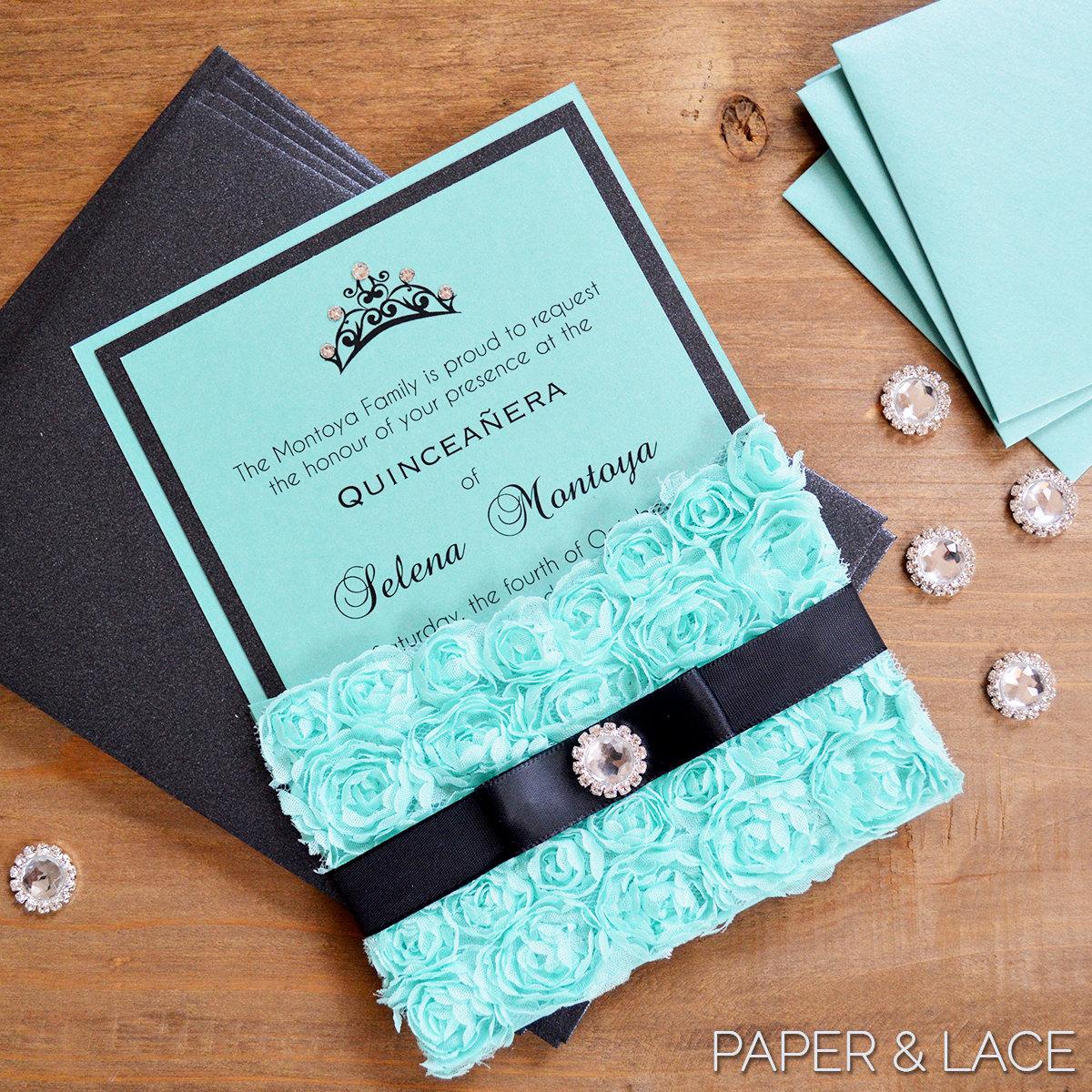 Quinceanera star invitations