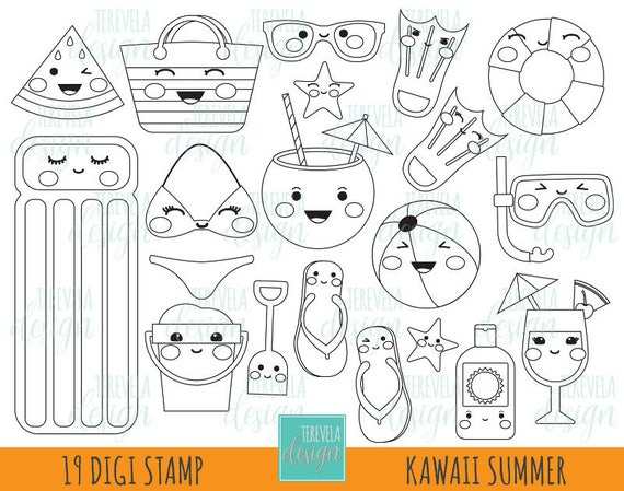 50 % SALE Sommer digitalen Stempel Strand Stempel