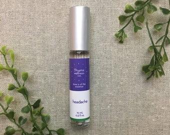 Headache Essential Oil Roller Bottle