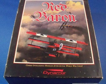 Red Baron by Dynamix, Vintage Video game 1991 With box & Booklets