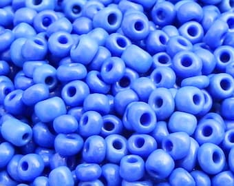 250 blue seed beads