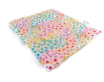 Colorful Stars Snack Bag || Reusable Sandwich Bag || Reusable Snack bag || Eco Friendly Gift || Zippered Pouch || Food Safe Bag