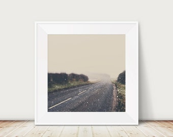 road photograph snow photograph winter photograph landscape photography travel photograph falling snow print England photograph