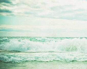 beach photography . seashore print . nature photography . beach house decor . blue . fine art print  . seascape .ocean print . Beach Dreams2