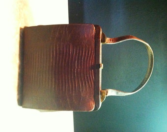 Vintage Genuine Lizard Handbag by Vassar