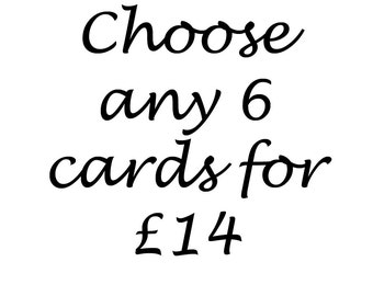 Choose any six cards multi-buy
