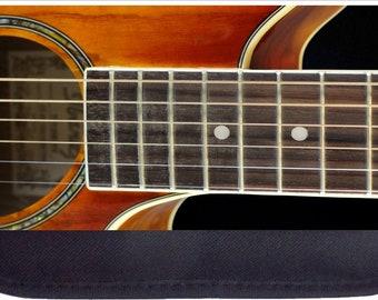 Acoustic Guitar  - Black Pencil Bag - Pencil Case