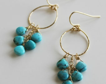 Turquoise /goldfilled earrings