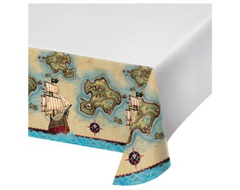 Pirate Tablecloth - Pirate Party Decorations - Pirate Birthday Supplies - Party Decorations - Pirate Birthday - Ahoy Matey - Pirate Ship
