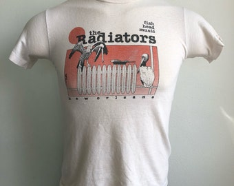 The Radiators Shirt 70s Vintage New Orleans Fish Head Music Tshirt Swamp Jam Roots Southern Rock Band Music Rare USA Made Size Small