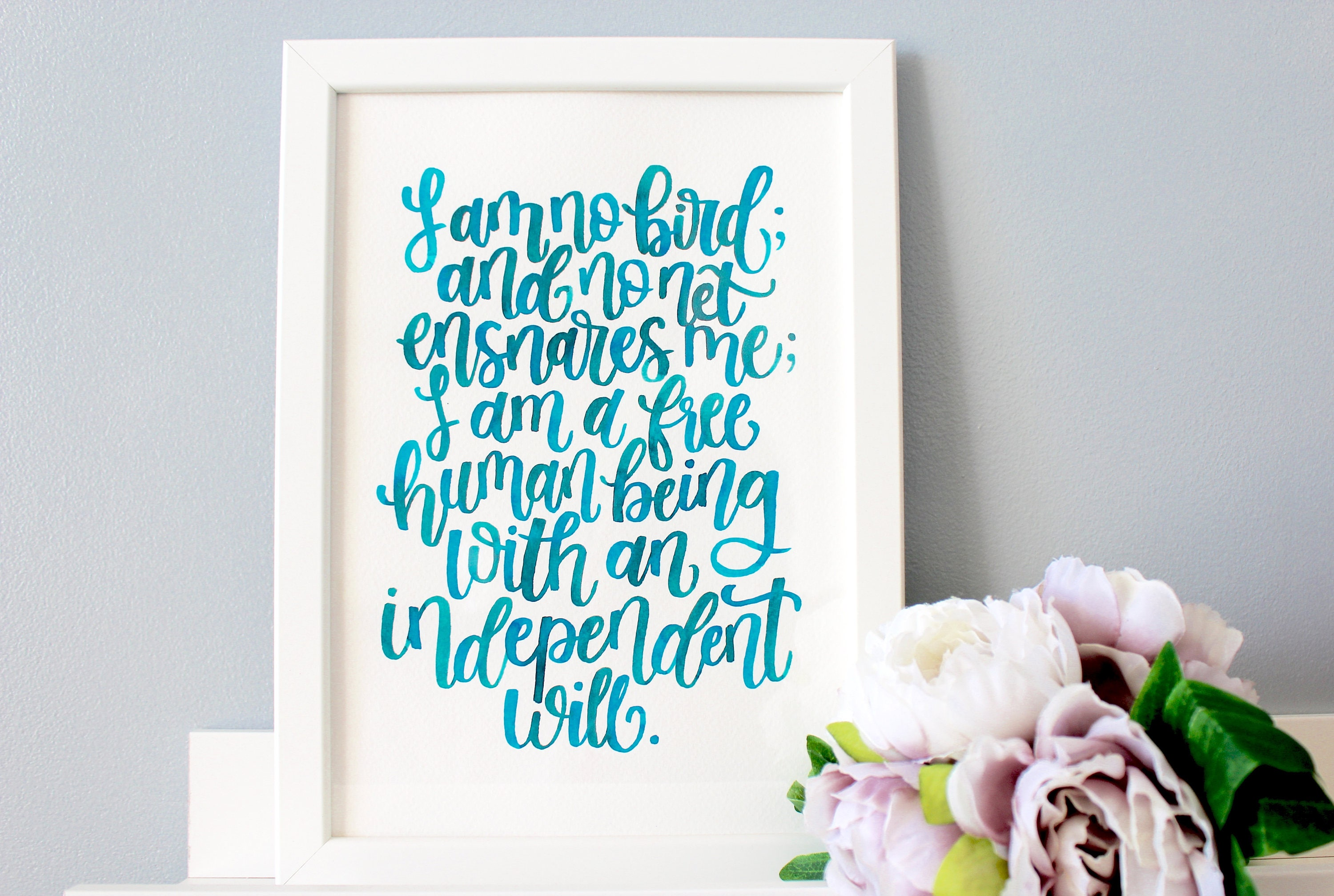 Quotes Jane Eyre Jane Eyre Framed Quote Hand Lettered Charlotte Bronte Quote
