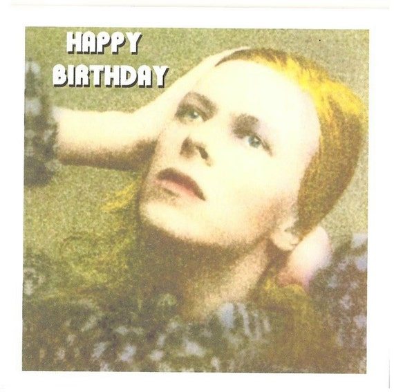 David bowie birthday card bookmarktalkfo Image collections