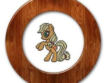 My Little Pony Applejack Inspired cross stitch pattern .pdf