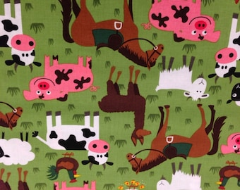 Children's Farm Throw Pillow Cover - Custom Fit for The Pillow Size You Need!