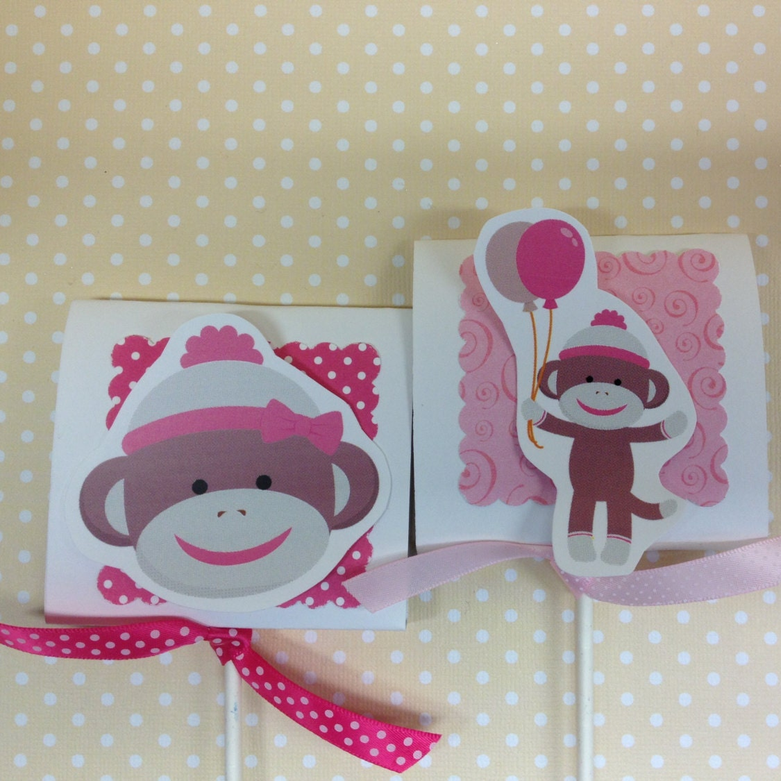 Monkey Baby Shower Party Favors: Pink Sock Monkey Party Or Baby Shower Lollipop Favors Set Of