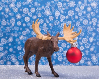 Mini Moose Christmas Card