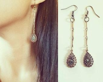 Gift for her, Vintage style earrings Bohemian earrings, chandelier earrings, gypsy earrings, ethnic earrings, long earrings