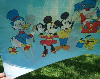 Pacific vintage standard pillowcase 42 x 36 Mickey and Minnie Mouse Scrooge Donald Duck Pluto Huey Dewey Louie