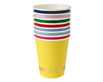 Toot Sweet Happy Birthday Paper Cups, Party Supplies, Tableware