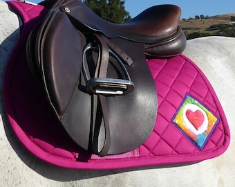 Be Playful! Hot Pink English Saddle Pad for All Purpose Saddles from The Summer Love Collection  LA-79