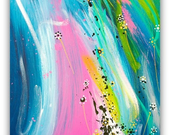 "Fine art Painting | Original artwork on canvas | colorful Original Art by Heroux | 16x20"" canvas"