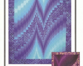 Two Fabric Bargello Pattern.  Modern take on traditional piecing.