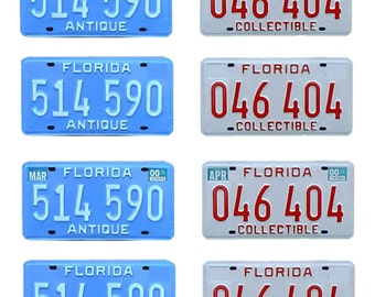 scale model car Florida antique vehicle historic license plates tags