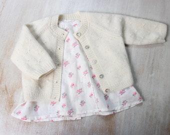 38 / Princess Charlotte 2 / Knitting Pattern Instructions in English / 6 Sizes : - 1 / Newborn / 3 / 6-9 / 12 / 18-24 months
