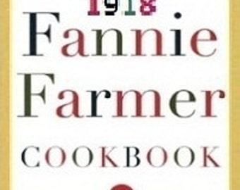 1918 Fannie Farmer Cookbook - Digital PDF Cookbook