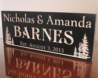 Cabin Sign, Family Name Sign, Lake House Sign, Welcome To The Lake Sign, Carved Wooden Sign, Benchmark Custom Signs, Maple TL