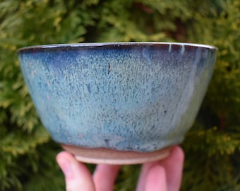 Light Blue and Green Drip Bowl