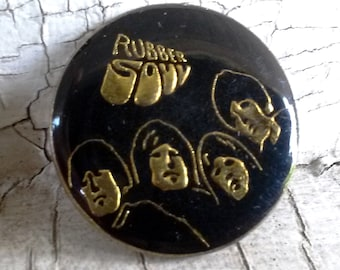 The Beatles - Rubber Soul - Vintage late 70's - Original - Paul Ringo John & George - Hat Pin
