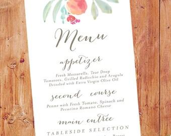 Peach Orchard Wedding Menu, Peach Theme Menu, Orchard Wedding Menus, Peach Fruit Wedding Menus, Georgia Peach Menu