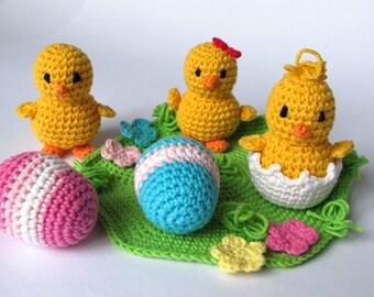 Easter Chicks / Chickens Crochet Pattern / Amigurumi