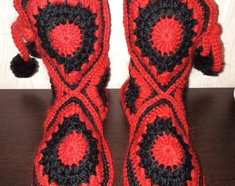 Crochet slippers/Slippers/Handmade slippers/Indoor shoes/Crochet/Winter boots/Crochet pattern/House shoes/Crochet socks/Adult/Women slipper
