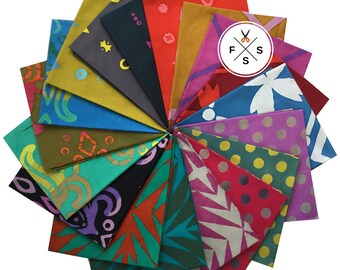 Alison Glass Handcrafted Patchwork Batiks Fat Quarters 18 FQs Precut Cotton Fabric Quilting Andover