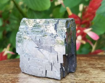 "1.5"" Galena, Mineral, Stone, Raw, Iron, Ore, Lead, Shiny, Metallic, Silver, Gray, Grey, Unique, Transformation, Change, Balance, Love"