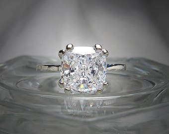 Cz engagement ring Etsy