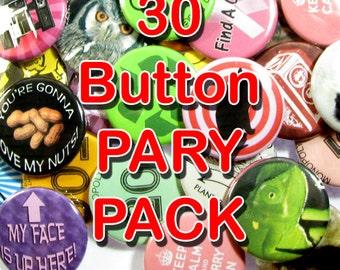 Paquete para fiestas 30 de botón Pinback