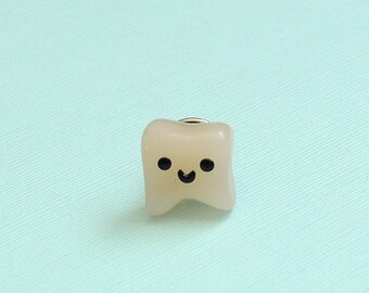 Dental Assistant Gift, Tooth Lapel Pin, Polymer Clay Miniature, Dentist, Teeth, Molar, Dental Gift, Dental Hygienist, Dental School Gift
