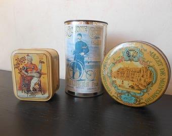 French tin pots - Ricore, decoration Français, French kitchen, Metal box, Vintage decoration