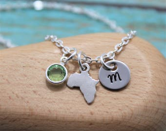 Africa Necklace - Personalized African Jewelry - Small Africa Shaped Necklace - Africa Map Necklace - Africa Gifts - Silver Africa Jewelry