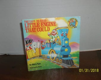 vintage 1986 easy to read the little engine that could book
