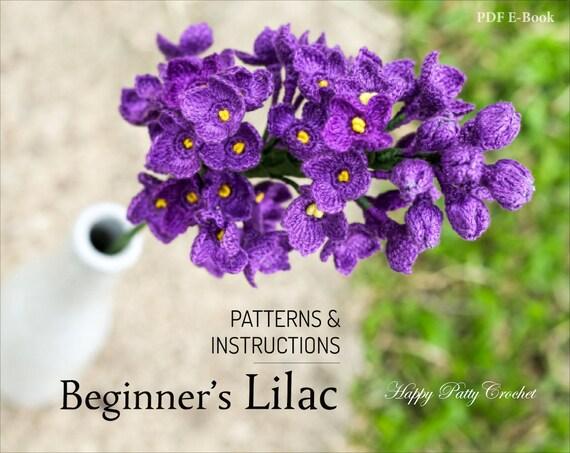 Beginners Crochet Lilac Pattern Crochet Lilac Flower Pattern For