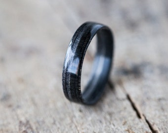 Wooden Ring- Black - Bentwood  Ring - Handmade -  Wedding Ring - Gift for her - Gift for him - Wooden Jewelry - Wood Ring - Wood Jewelry