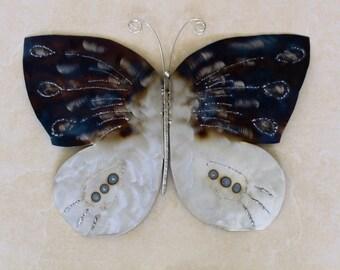 Grande farfalla (in sculture da parete in metallo)