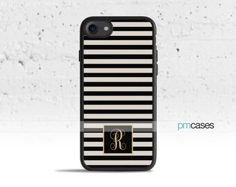 Monogram Striped Phone Case Cover for Apple iPhone iPod Samsung Galaxy S & Note