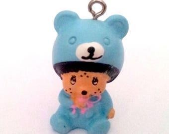 Kiki T23 blue bear pendant