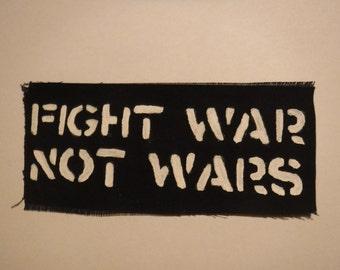Crass Fight War Not Wars Crust Punk Patch