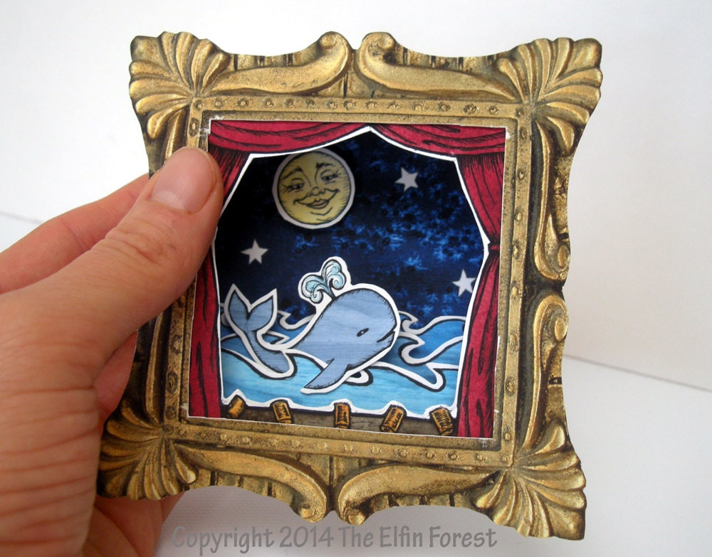 Printable diy shadow box theater whale and moon digital zoom solutioingenieria Images